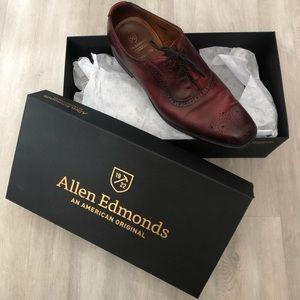 Allen Edmonds Red Cornwallis Size 9.5 D